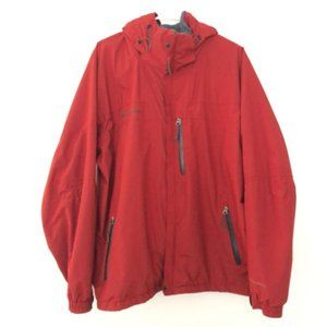 Columbia Mens Large Interchange Zip Up Jacket Red